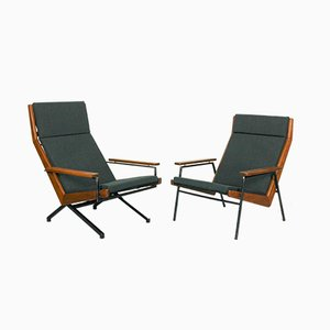 Teak Model Lotus Lounge Chairs by Rob Parry for De Ster Gelderland, 1950s, Set of 2