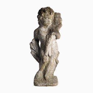 Cement Statue, die ein Kind darstellt
