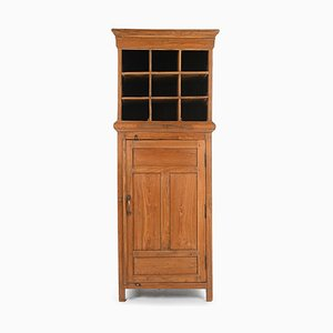Cabinet with 9 Lockers and Wooden Cupboard