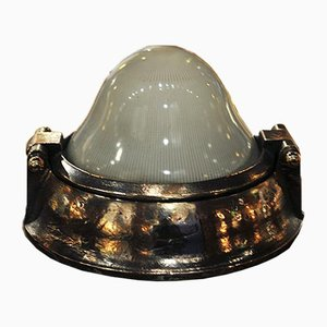 Bronze Parisian Subway Wall Lamp, 1900s