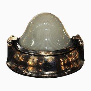 Pariser U-Bahn-Wandlampe aus Bronze, 1900er