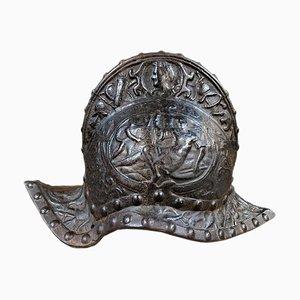 Bronze Helmet Sculpture