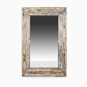 Spiegel aus patiniertem Holz