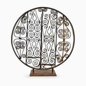 Wrought Iron Standing Wheel