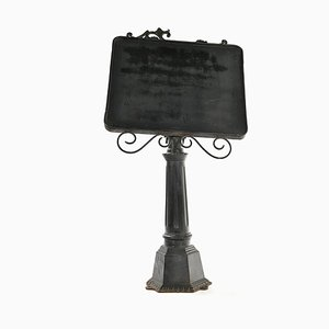Menu Holder on Metal Stand