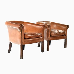 Fawn Leather Armchair