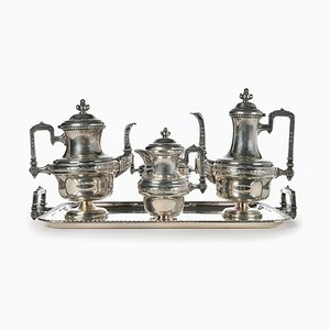 Tea and Coffee Set in Silver-Plated Metal