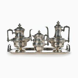 Tee- und Kaffeeservice aus versilbertem Metall