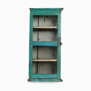 Turquoise Wooden Showcase