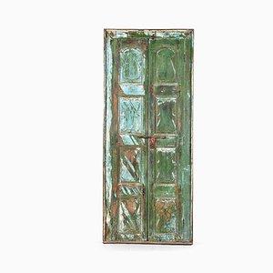 Antike Holztür mit Spiegel