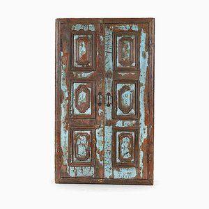 Antique Wood Door with Mirror