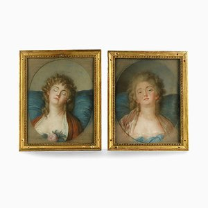 18th Century Watercolors, Set of 2