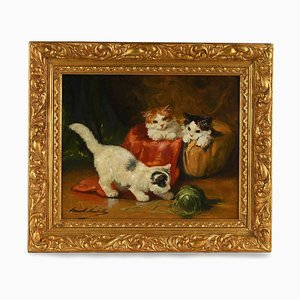 Painting of Cats by Alfred-Arthur Brunel de Neuville