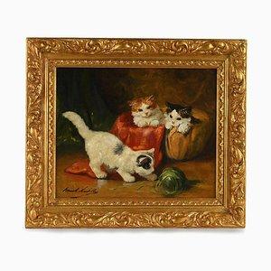 Peinture de Chats par Alfred-Arthur Brunel de Neuville