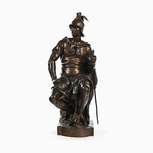 Bronzeskulptur Militär Courage von Paul Dubois