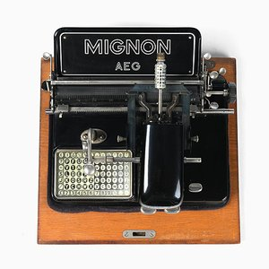Vintage Typewriter from Mignon AEG, 1930s