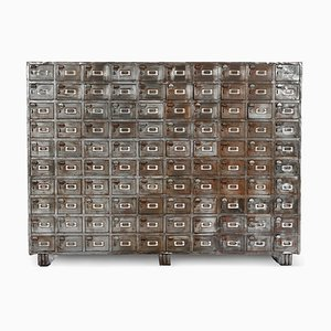 Large Industrial Cabinet with 100 Metal Lockers