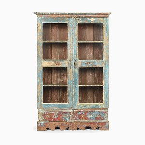 Vintage Wooden Cabinet with 2 Drawers