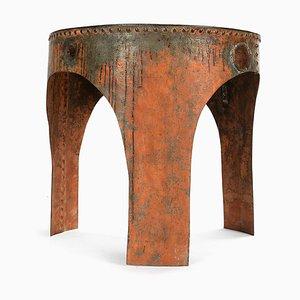 Industrieller Vernieteter Metallblech Tisch