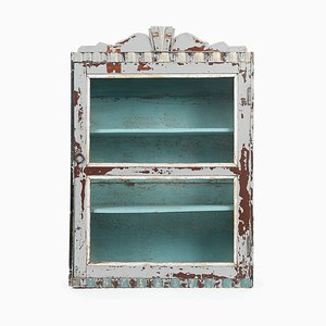 Patinated Wooden Display Cabinet