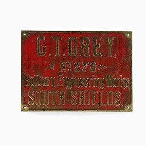Emailliertes Schild von GT Grey