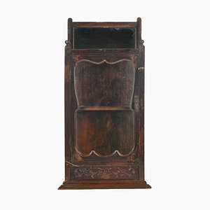Dark Wooden Display Cabinet