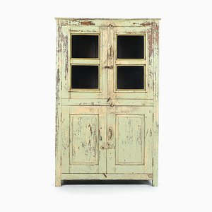 Glass Cabinet in Patinated Wood