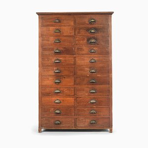 Wooden Storage Cabinet with 22 Drawers