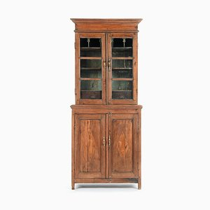Glazed Wooden China Cabinet