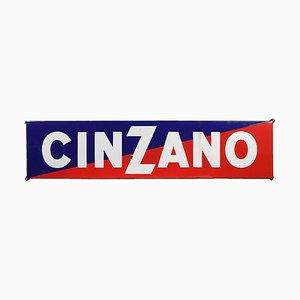 Emailliertes Cinzano-Zeichen
