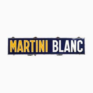 Weiß Emaillierter Martini Teller