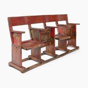 4-Sitzer Kinobank aus Holz