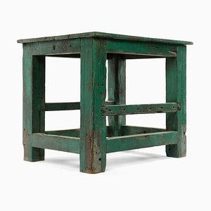 Green Table in Patinated Wood