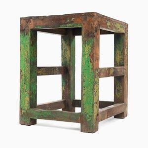 Kleiner Tisch mit Grüner Patina