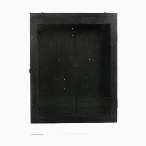 Kleine Schwarze Vitrine aus Holz