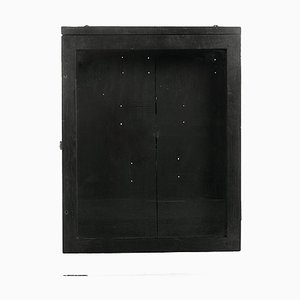 Small Black Wooden Showcase
