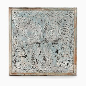 Decorative Plate Made of Patinated Sheet Metal