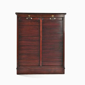 Wooden Cabinet with Double Rolling Shutters, 1910