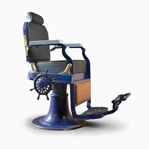Blue Barber Chair