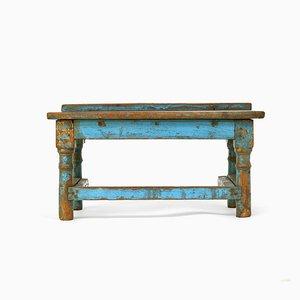 Kleiner patinierter Holz Schreibtisch