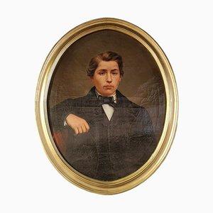 Gemälde eines jungen Mannes im Geschirr, 1850er