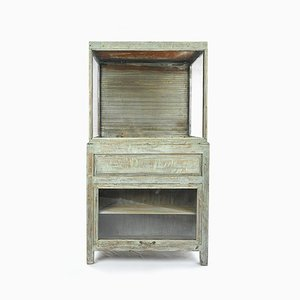 Antique Wooden Showcase with Blind