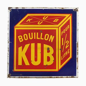 Advertising Enameled Bouillon Kub Plate