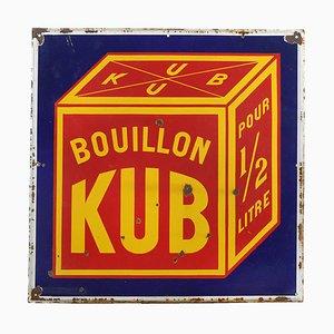 Plato de publicidad Kub Bouillon esmaltado