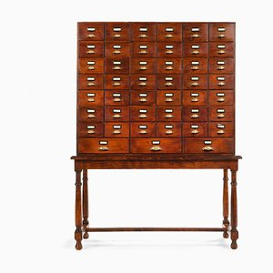 Wooden Apothecary Cabinet with 45 Drawers