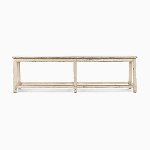 Antique White Wooden Bench