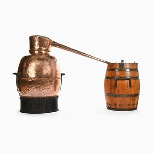 19 Century Copper Distillery Alembic Barrel