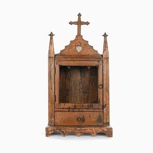 Religiöse Vitrine aus Holz
