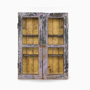 Painted Wooden Showcase