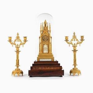 Palisander Kathedrale & verzweigte Kerzenhalter, 3er Set